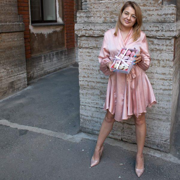 Набор клубники в шоколаде: розовый градиент Silver