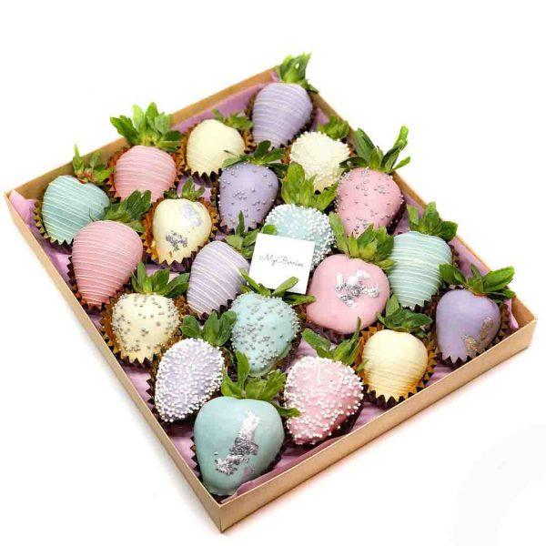 Набор клубники в шоколаде: happy