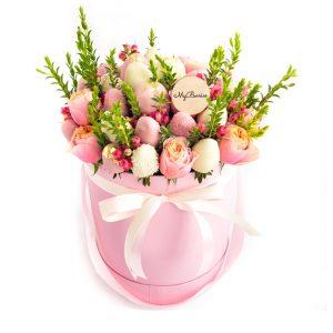 """Шляпная коробка: розовая """"SweetPeach"""""""