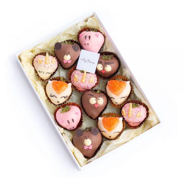 Набор клубники в шоколаде: Зоопарк