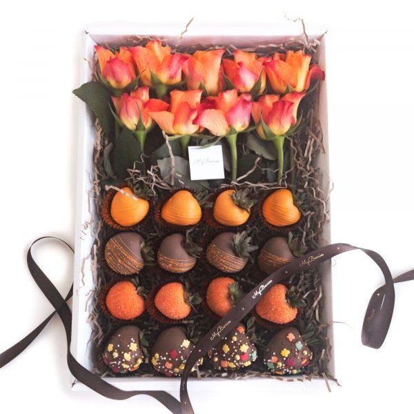 Набор клубники в шоколаде: Осенний