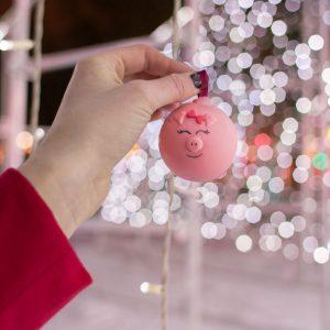 Шоколадный шар с предсказанием: Свинка
