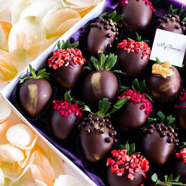 Набор клубники в шоколаде: Queen
