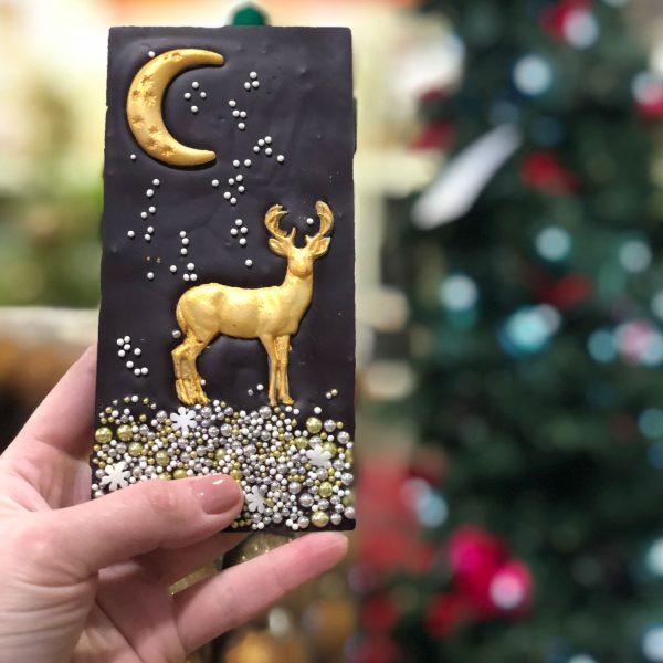Новогодний шоколад с оленем