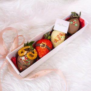 Набор клубники в шоколаде: Merry Christmas