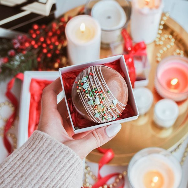 Christmas ball с какао и маршмеллоу